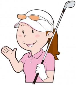 ゴルフウェア女性